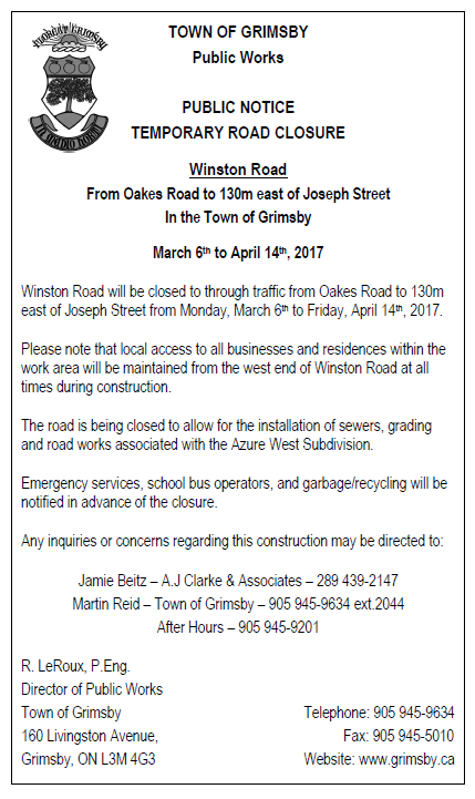 More roadwork coming our way… | Grimsby Citizens For