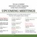 Notice:  Public Meetings March 2018