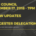 Notice:  Council Meeting - September 17, 2018