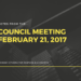 Notes:  Town Council - February 21, 2017