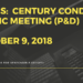 Notes:  Century Condos Public Meeting (P&D) - October 9, 2018