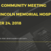 NOTES:  WLMH Community Meeting & Petition - October 24, 2018