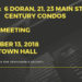 NOTICE:  Public Meeting - Century Condos Downtown - November 13, 2018
