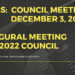 NOTES:  Council December 3, 2018 (Inaugural Meeting)