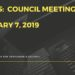 Notes:  Council - January 7, 2019