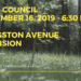 NOTICE:  Council - September 16, 2019 - Livingston Avenue Extension